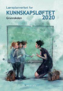 Bildet viser forsiden til læreplanverket KL20 for grunnskolen, hvor utdanning for bærekraftig utvikling er en viktig del.